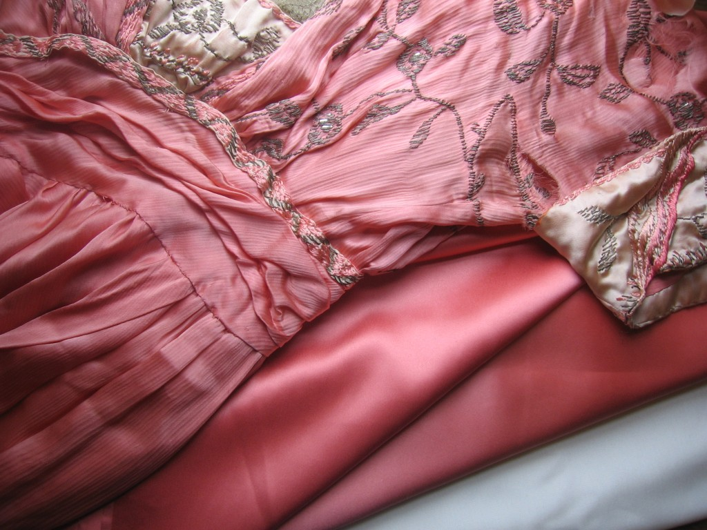 The original Paris gown with modern silk for the replica