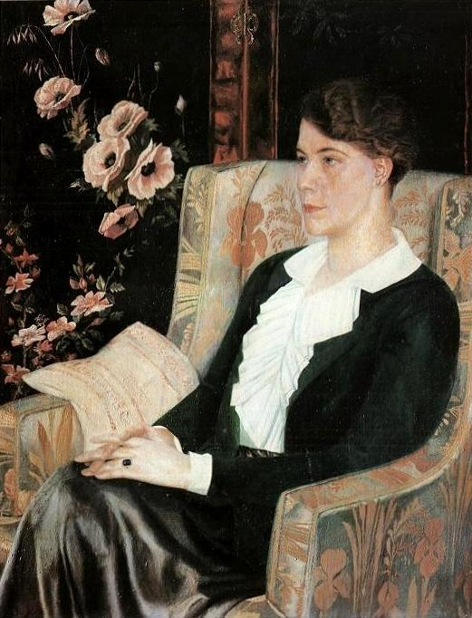 Another classic jacket is pictured in the 1915 painting, Portrait of E N Glebova by Russian painter Pavel Filonov.