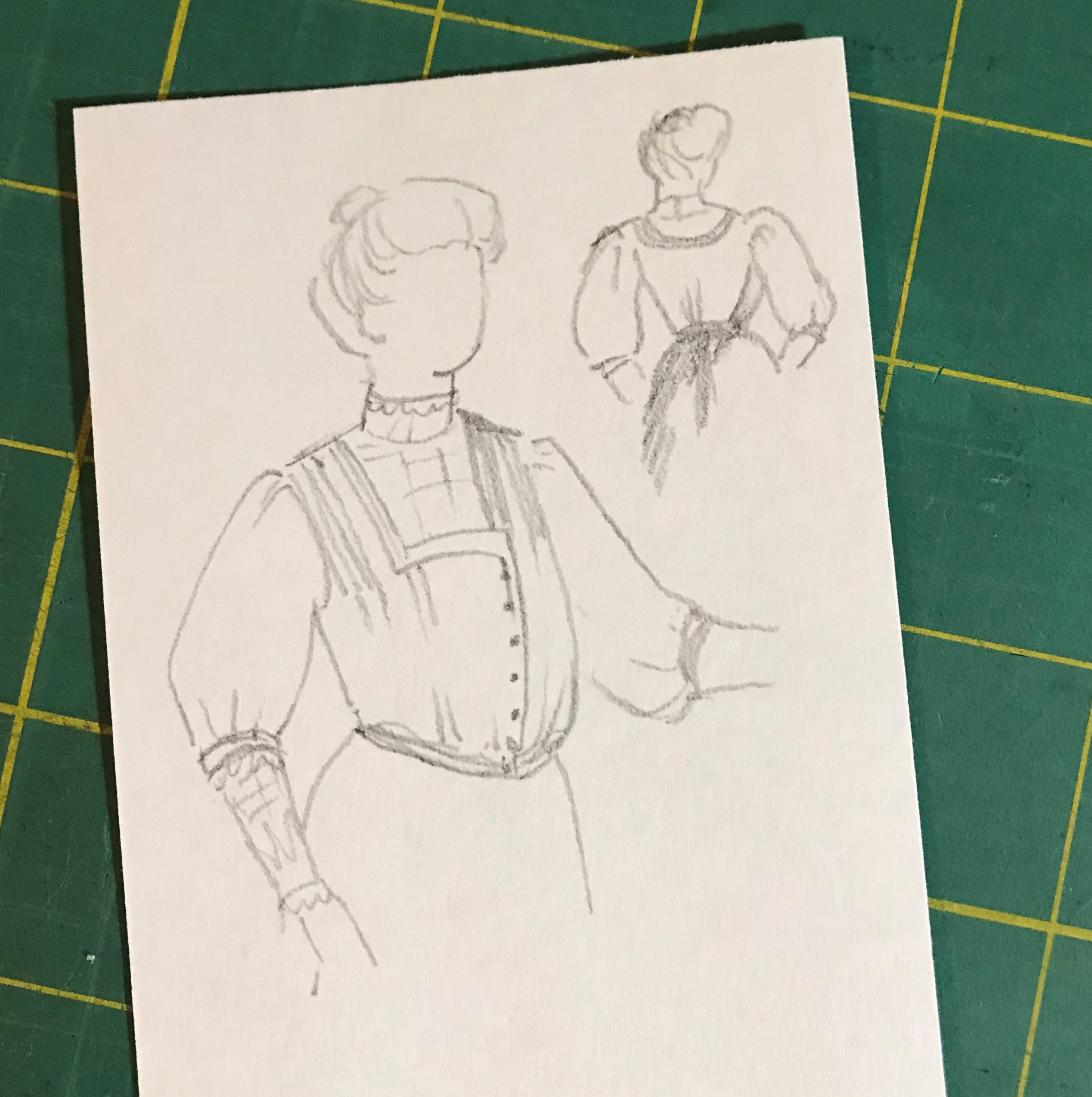 A rough sketch of the Party Waist design